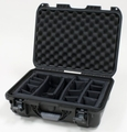 "Gator Cases Black waterproof injection molded case with interior dimensions of 17"" x 11.8"" x 6.4"". INTERNAL DIVIDER SYSTEM - GU-1711-06-WPDV"