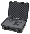 "Gator Cases Black waterproof injection molded case with interior dimensions of 18"" x 13"" x 6.9"". DICED FOAM - GU-1813-06-WPDF"