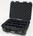 "Gator Cases Black waterproof injection molded case with interior dimensions of 18"" x 13"" x 6.9"". INTERNAL DIVIDER SYSTEM - GU-1813-06-WPDV"