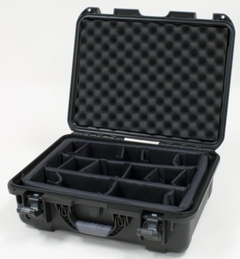 """Gator Cases Black waterproof injection molded case with interior dimensions of 18"""" x 13"""" x 6.9"""". INTERNAL DIVIDER SYSTEM - GU-1813-06-WPDV"""