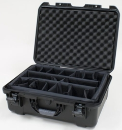 """Gator Cases Black waterproof injection molded case with interior dimensions of 20"""" x 14"""" x 8"""". INTERNAL DIVIDER SYSTEM - GU-2014-08-WPDV"""