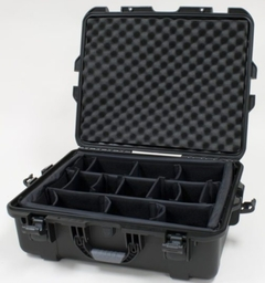 "Gator Cases Black waterproof injection molded case with interior dimensions of 22"" x 17"" x 8.2"". INTERNAL DIVIDER SYSTEM - GU-2217-08-WPDV"