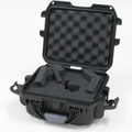 "Gator Cases Black waterproof injection molded case with interior dimensions of 9.4"" x 7.4"" x 5.5"" . DICED FOAM - GU-0907-05-WPDF"
