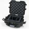 "Gator Cases Black waterproof injection molded case with interior dimensions of 9.4"" x 7.4"" x 5.5"" . INTERNAL DIVIDER SYSTEM - GU-0907-05-WPDV"