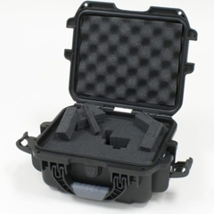 "Gator Cases Black Waterproof Injection molded case, with interior dimesions of 7.4"" x 4.9"" x 3.1"". DICED FOAM - GU-0705-03-WPDF"