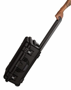"Gator Cases Black waterproof injection molded case with pullout handle and inline wheels. Interior dimensions of  20.5"" x 11.3"" x 7.5"" . DICED FOAM - GU-2011-07-WPDF"