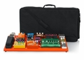 Gator Cases British Orange Extra Large aluminum pedal board with carry bag and bottom mounting power supply bracket. Power supply not included. - GPB-XBAK-OR