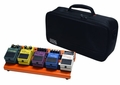 Gator Cases British Orange Small aluminum pedal board with Gator carry bag and bottom mounting power supply bracket. Power supply not included. - GPB-LAK-OR