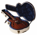 Gator Cases Deluxe Wood Case for Semi-Hollow Electrics such as Gibson 335�; Journeyman Burlap Exterior - GW-JM 335