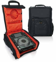 """Gator Cases G-Club Series Carry Bag for Large DJ CD Players or 12"""" DJ Mixers with Headphone Storage. Fits Pioneer CDJ 2000, Numark NDX 800, Stanton C324-NA, A&H - Xone:42, Denon DN-X1100 and more - G-CLUB CDMX-12"""
