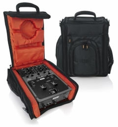 "Gator Cases G-Club Series Carry Bag for Small DJ CD Players or 10"" DJ Mixers with Headphone Storage. Fits American DJ Flex 100, Numark NDX 4, STATNTON CMP 800, Rane TT-57 and more - G-CLUB CDMX-10"