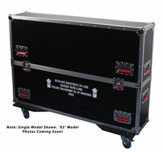 "Gator Cases G-TOUR case designed to easily adjust and fit two LCD, LED or plasma screens in the 43"" to 50"" class. Interior dims 49.5 X 6.3 X 30.5 (X2) - G-TOURLCDV2-4350-X2"
