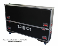 "Gator Cases G-TOUR case designed to easily adjust and fit two LCD, LED or plasma screens in the 60"" to 65"" class. Interior dims 62.5 X 6.3 X 36 (X2) - G-TOURLCDV2-6065-X2"