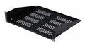 "Gator Cases Gator Rackworks Utility Shelf; 15"" Deep; 2U; w/ Elongated Vent Holes for Air Circulation - GRW-SHELFVNT2"
