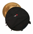 "Gator Cases Heavy Duty Padded Backpack to Hold up to Six 22"" Cymbals w/ Pocket for Stick Bag. - GP-CYMBAK-22"