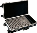 "Gator Cases Molded PE Mixer or Equipment Case; 12"" X 24"" X 4.25""; w/ Wheels - G-MIX 12X24"
