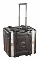 "Gator Cases Molded PE Rack Case; Front, Rear Rails; 8U; 19"" Deep; Locking, Pull Handle, Recessed Wheels; w/ Power Supply - GRR-8PL-US"