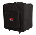 Gator Cases Par Can Light Case w/ Tow Handle, Wheels, & Removable hook & loop Dividers; Holds Four (4) Par 64 LED's - G-PAR 64LED4