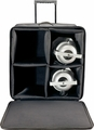 Gator Cases Par Can Light Case w/ Tow Handle, Wheels, & Removable hook & loop; Holds Four (4) Par 64'S - G-PAR-64