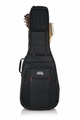 Gator Cases Pro-Go Series Double Guitar Bag for Acoustic and Electric Guitar with Micro Fleece Interior and Removable Backpack Straps - G-PG-ACOUELECT