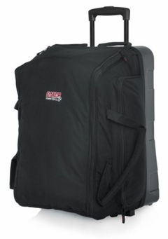 Gator Cases Speaker Bag w/ Reinforced Molded Bottom, In-Line Wheels, & Pull-Out Handle; Fits EV Sx100 & Many Others - GPA-777