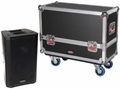 Gator Cases Tour style case to hold (2) QSC K8 speakers. Accessory compartment for cables and connectors. - G-TOUR SPKR-2K8