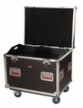 Gator Cases Truck Pack Utility ATA Flight Case; 30� x 22� x 22� Exterior Before Casters; 12mm Wood Construction, Dividers and Lift-Out Trays - G-TOURTRK302212