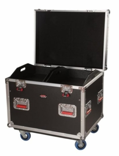 """Gator Cases Truck Pack Utility ATA Flight Case; 30"""" x 22"""" x 22"""" Exterior Before Casters; 12mm Wood Construction, Dividers and Lift-Out Trays - G-TOURTRK302212"""