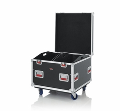 """Gator Cases Truck Pack Utility ATA Flight Case; 30"""" x 30"""" x 27"""" Exterior Before Casters; 12mm Wood Construction, Dividers and Lift-Out Trays - G-TOURTRK303012"""