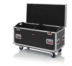 "Gator Cases Truck Pack Utility ATA Flight Case; 45"" x 22"" x 27"" Exterior Before Casters; 12mm Wood Construction, Dividers and Lift-Out Trays - G-TOURTRK452212"