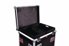"Gator Cases Truck Pack Utility ATA Flight Case; 45"" x 30"" x 30"" Exterior Before Casters; 12mm Wood Construction, Dividers and Lift-Out Trays - G-TOURTRK453012"