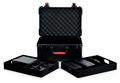 Gator Cases TSA Series ATA Molded Polyethylene Case for (7) Wireless Microphones with (2) Lift Out Trays for Recievers, Beltpacks and Accessories.  - GTSA-MICW7
