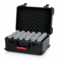 Gator Cases TSA Series ATA Molded Polyethylene Case with Foam Drops for Up to (30) Wired Microphones - GTSA-MIC30