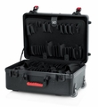 "Gator Cases TSA Series ATA Molded Polyethylene Utility Case with (2) Tool Pallet Trays; 18""x13""x7"" - GTSA-UTLPLT1813"