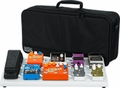 Gator Cases White Large aluminum pedal board with Gator carry bag and bottom mounting power supply bracket. Power supply not included. - GPB-BAK-WH