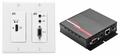 Hall Research UHBX-SC-WP, and UHBX-R-PSE - HDMI, IR and RS232 over HDBaseT� Sender in double-gang Decora� Wallplate with Power injecting receiver unit via UTP cable - UHBX-WPC-P2