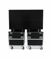 "Jelco RotoLift™ Dual Lift Case for Two 55"" - 60"" flat screens - ELU-60RX2"