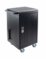 Luxor 30 Capacity Tablet/Chromebook Charging cart w/keypad lock - LLTM30-B-KP