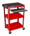"Luxor Red 42"" Adjustable Height Table w/keyboard tray - AVJ42KB-RD"