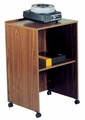 Oklahoma Sound AV Cart/Lectern Base (Medium Oak) - 112-MO