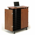 Oklahoma Sound Laptop Charging/Storage Cart (Cherry/Black) - LCSC
