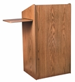Oklahoma Sound The Aristocrat Non-Sound Lectern (Medium Oak) - 600-MO