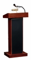 Oklahoma Sound The Orator Lectern (Fixed-height, Mahogany) & Wireless Handheld Mic - 800X-LWM5-MY