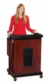 Oklahoma Sound The Smart Cart Lectern (Sound, Mahogany) - SCLS-MY