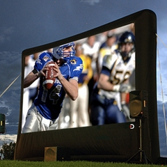 Outdoor Movie Theater System - Platinum Package - Full HD System on an 19.5' Screen! (REAR PROJECTION)