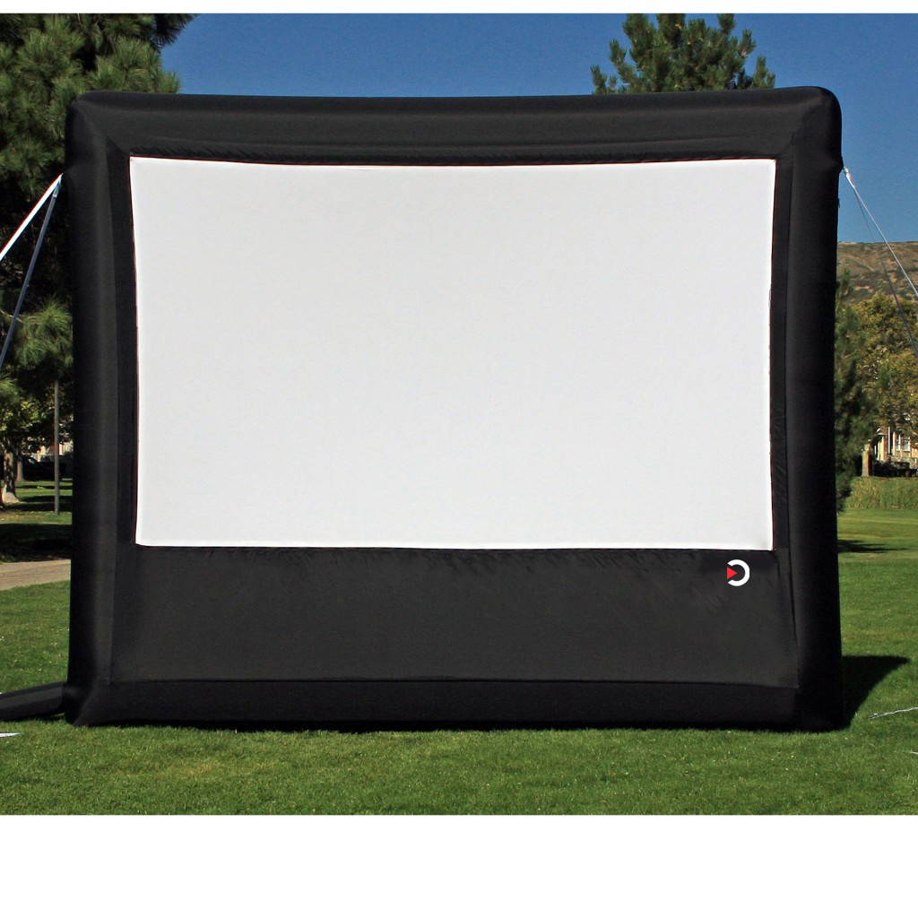 outdoor movie theater system silver package rear projection