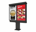 "Peerless 47"" Xtreme Outdoor Double Digital Menu Board Kiosk - KOP547-XTR-2"