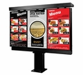 "Peerless 47"" Xtreme Outdoor Triple Digital Menu Board Kiosk - KOP547-XTR-3"