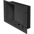 Peerless In-Wall Large Metal botx with 1 Knock Out and Power Outlet (Black) - IBA2AC