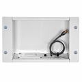 Peerless In-Wall Large Metal botx with 1 Knock Out and Power Outlet (White) - IBA2AC-W